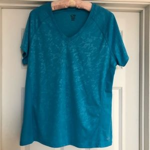 Champion Teal Duo Dry Short Sleeve Tee Shirt XL